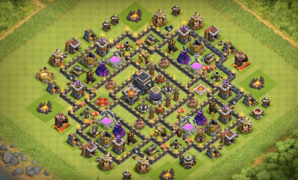 Best Th9 Dark Elixir Farming Base 2019 Base Coc Th 9 10