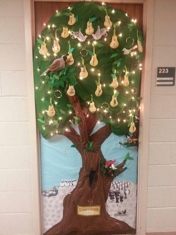 Twelve Days of Christmas door decorations 2013 (full door