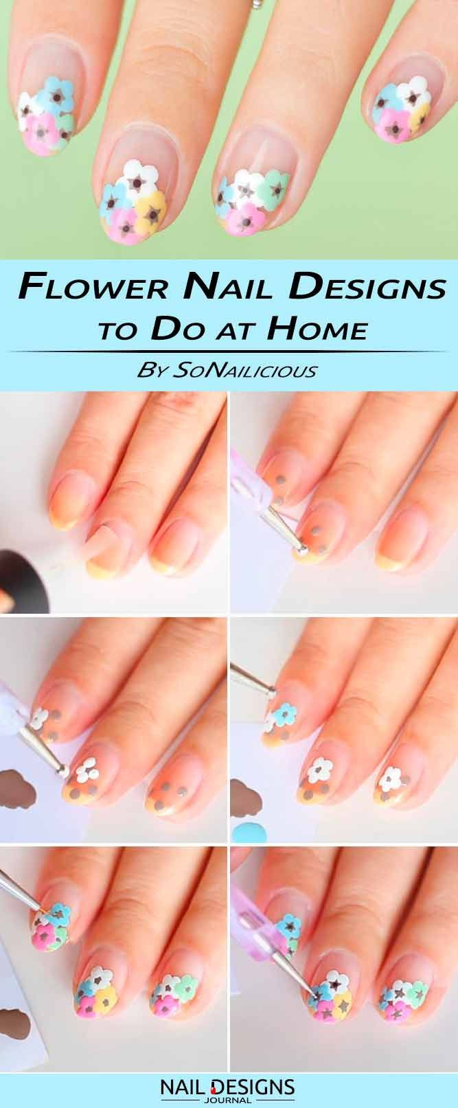 18 Step By Step Tutorials How To Do Nail Designs At Home Pinterest