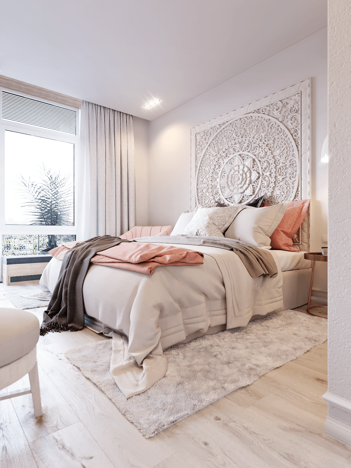 Pure White Grand Mandala Headboard | Makeovers nel 2019 ...
