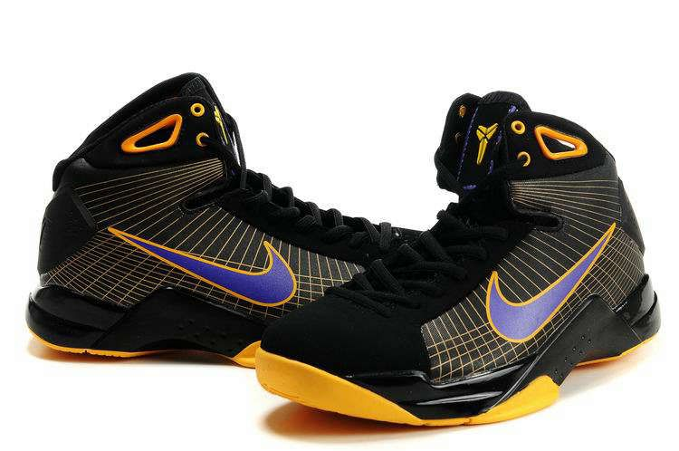 Cheap Kobe Hyperdunks TB Supreme Cheap Kobe Bryant shoes Black Gold Purple  324820 057