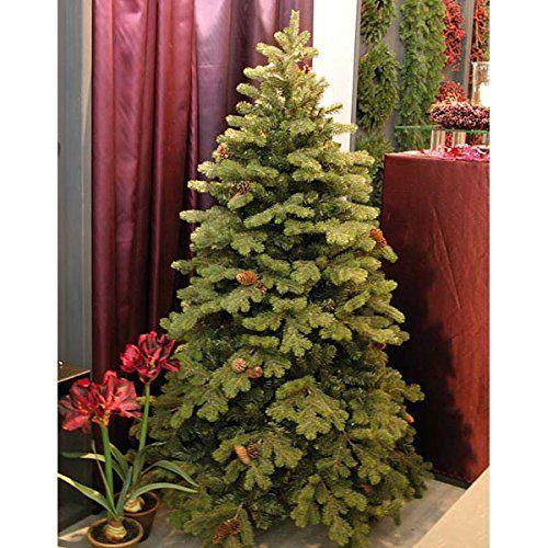 Weihnachtsbaum Kunstoff.Artplants Edler Künstlicher Tannenbaum Konrad Mit Tannenzapfen
