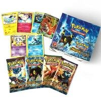 Wish | 36 packs 324pcs cards Pokemon TCG BreakPoint Booster Box Pocket Monster Game Card Kids Toy Gift (Size: 324)