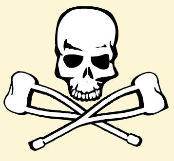 Skull with Crutches crossbones | Flickr - Photo Sharing!