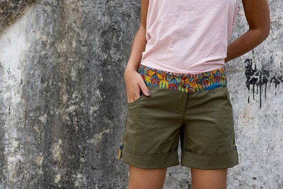 Africa+in+your+pocket+Shorts+by+KOKOworld+on+Etsy