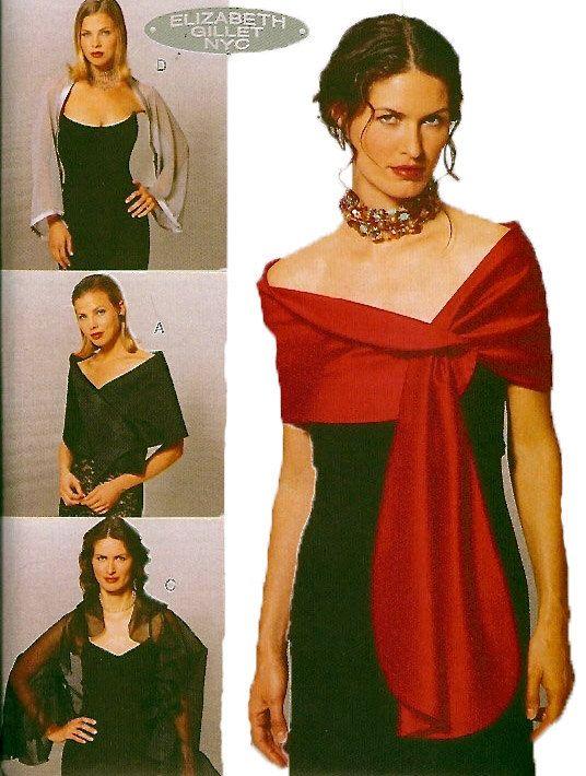 Evening dress bolero neck