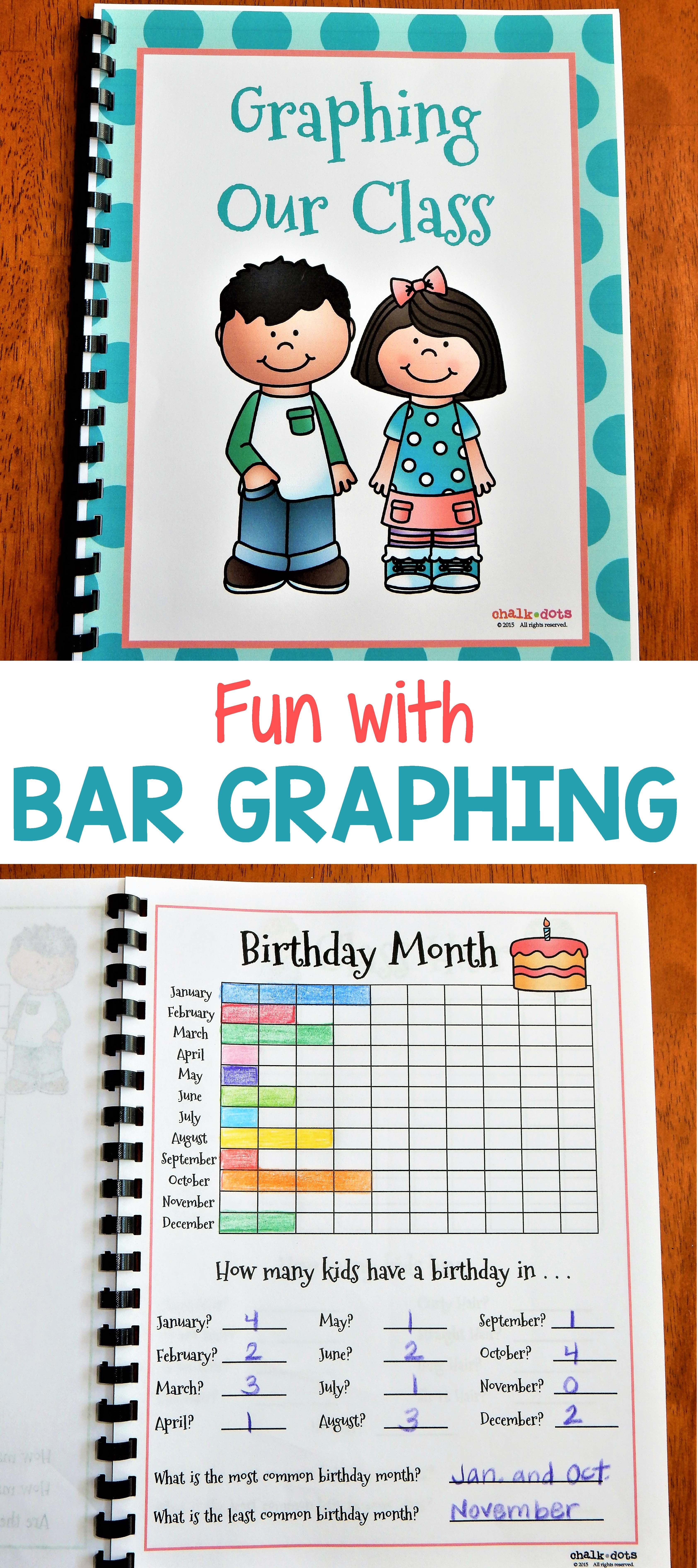 Bar Graphs: Graphing Our Class | TpT Math Lessons | Pinterest | Bar ...
