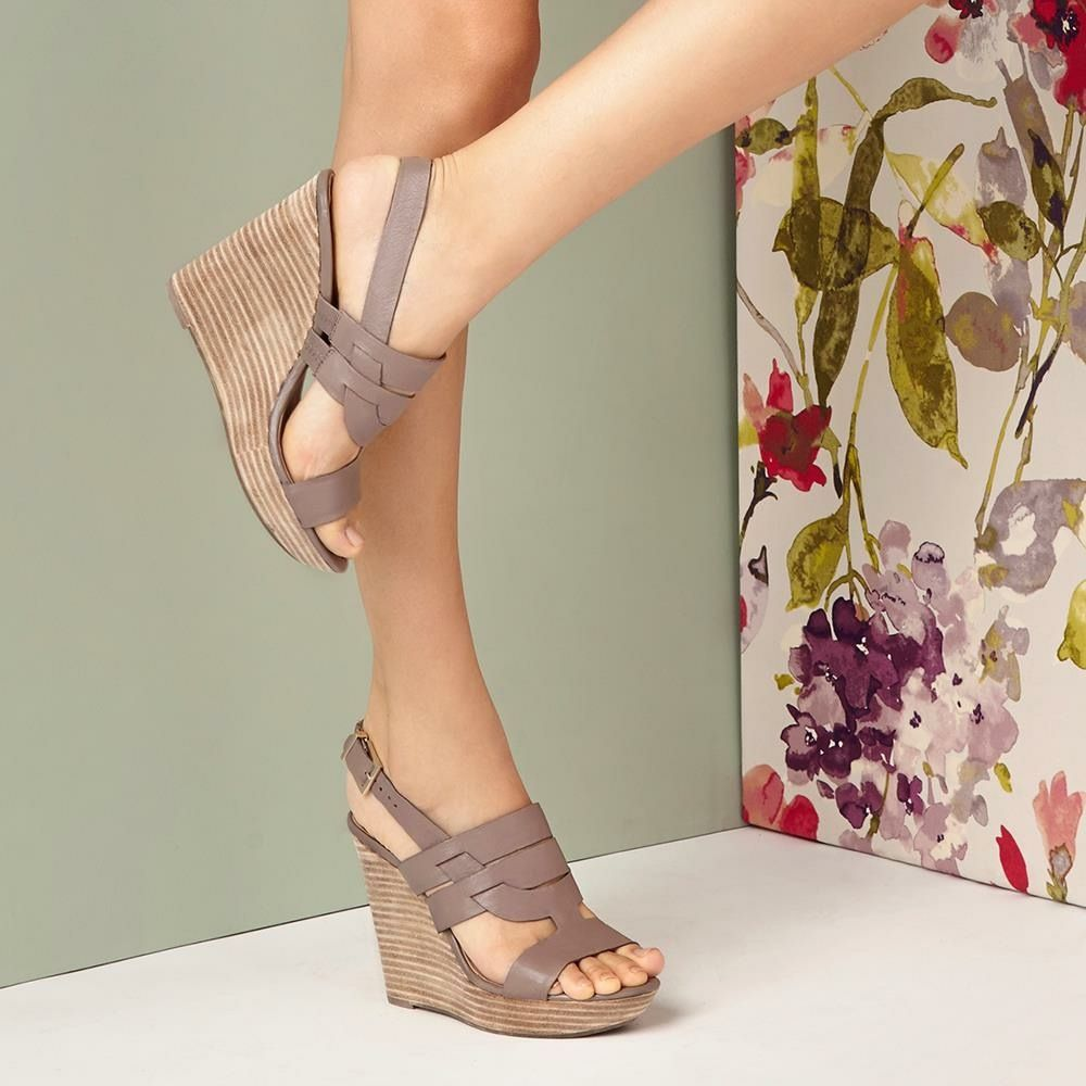 72955cc05e4 ~~~favorite platform wedge of the season. Gorgeous dark taupe color. Ask  you stylist for shoes like these in your next fix! Stitch fix spring.
