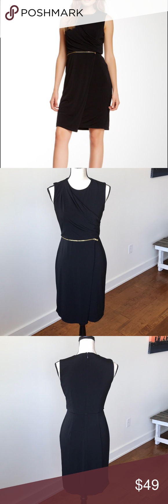 Vince camuto zip and drape dress vince camuto zip and fe