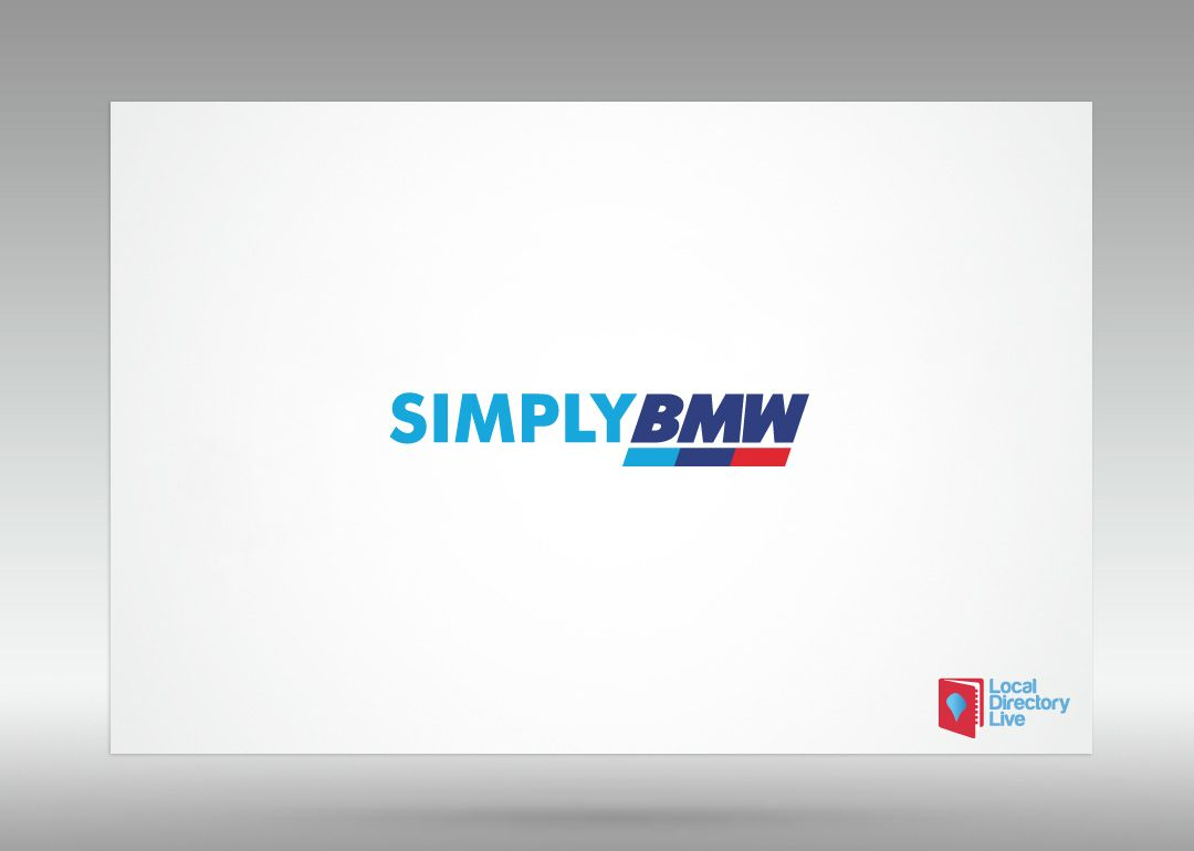 Simply BMW are based in the West of Edinburgh and provide breaking, servicing and repairs.   We used the BMW Motorsport colours to create a clear but effective and hard working logo.