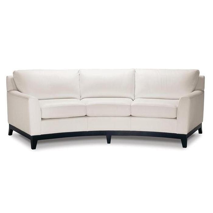 Curved Sofa In Chalk White Nebraska Furniture Mart