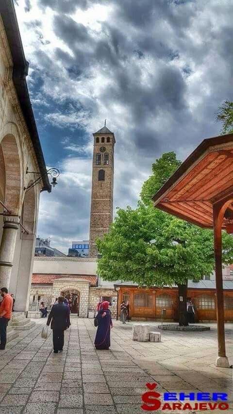 Sarajevo, dvoriste Begove dzamije. | Sarajevo bosnia