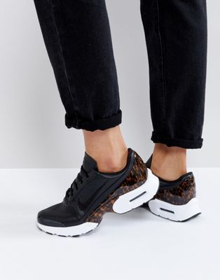 Nike Air Max Jewell Lx Sneakers In Black Leather | Nike air