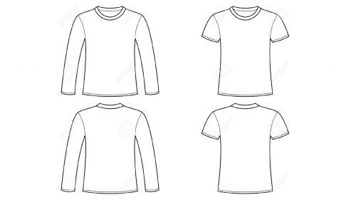 Blank Tshirt Template Clip Art with Long Sleeve | Clip art and Template