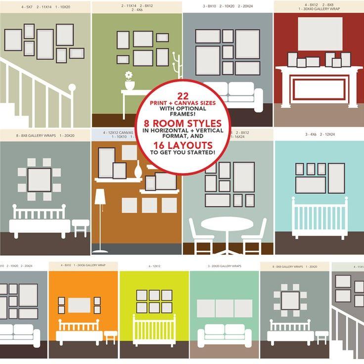 ways to arrange picture frames on wall fun. Black Bedroom Furniture Sets. Home Design Ideas