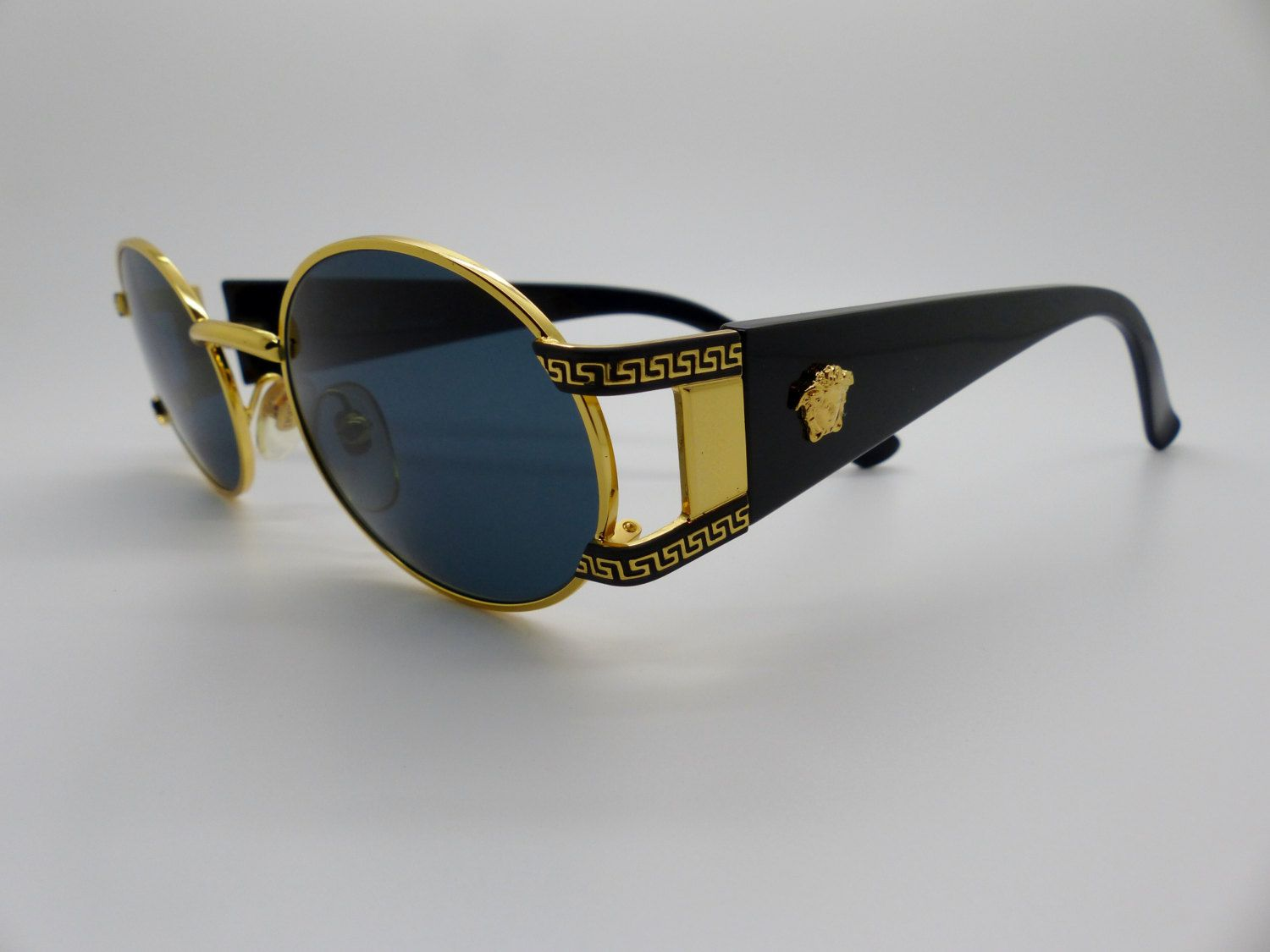 7c5bb5a27131 Rare Vintage Gianni Versace Medusa Sunglasses Mod S60 Col 49L New Old Stock  by VSOx on Etsy