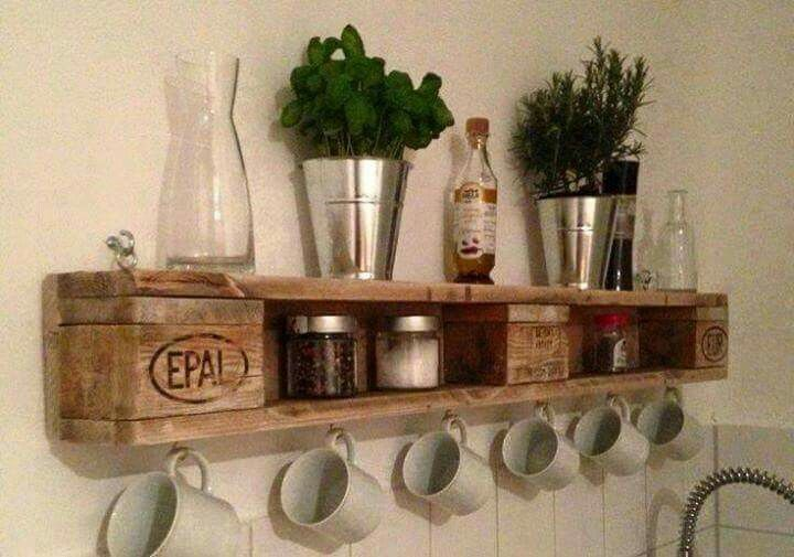 Diy Keuken Kleine : Keuken дерево regal möbel aus paletten и möbel