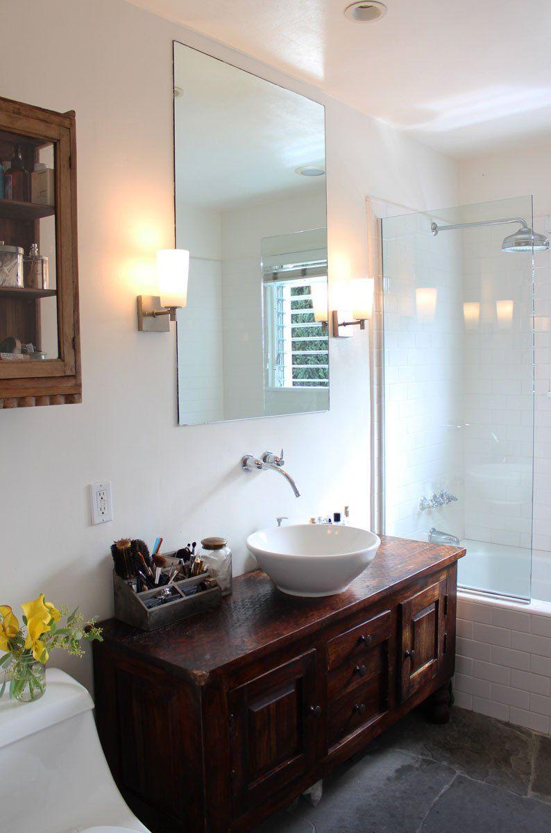 Rachel Kevin S Los Feliz Love Shack Salle De Bain Bois Toilette