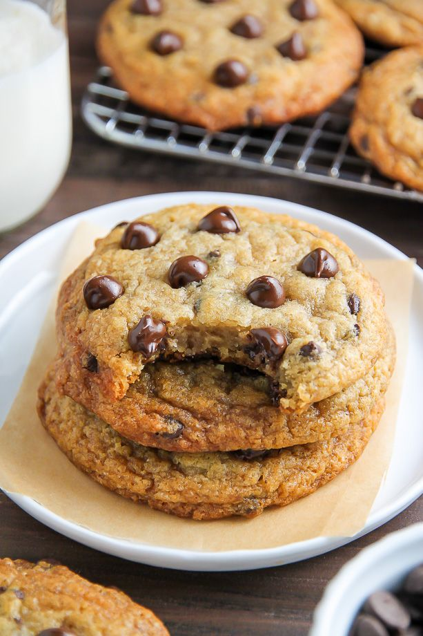Thick, chewy, and loaded with gooey chocolate chips, you'll never guess these cookies are vegan!