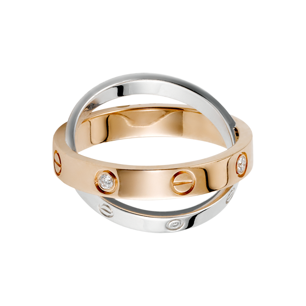 02a402e08e81 LOVE ring - Pink gold