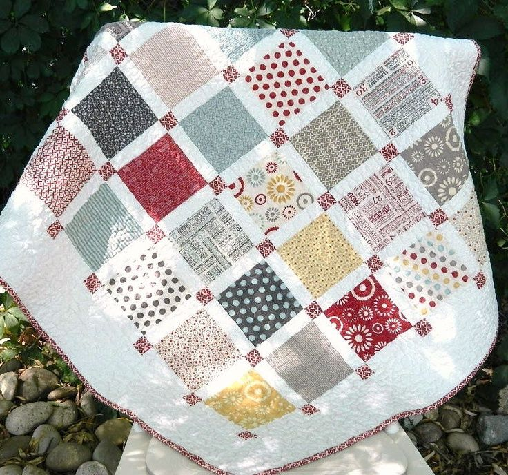 charm with white sashing and small cornerstones. I'd like to make ... : sashing for quilts - Adamdwight.com