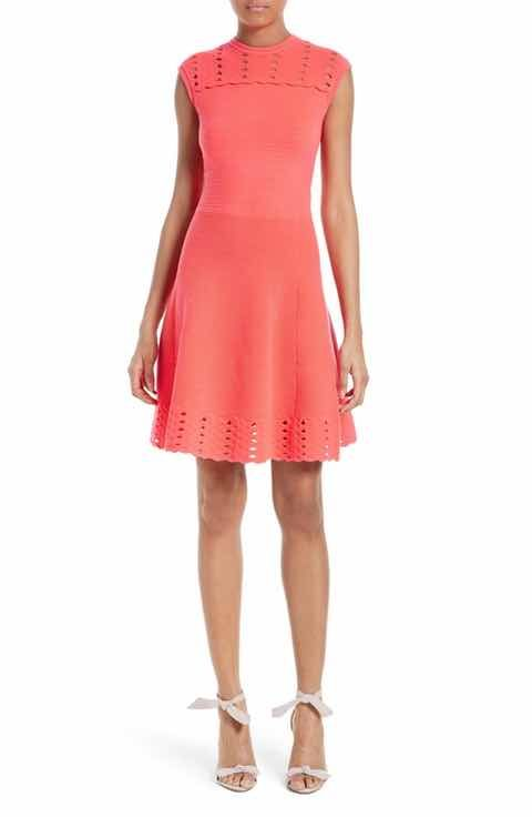 Ted Baker London Zaralie Jacquard Panel Skater Dress  44bd253d7