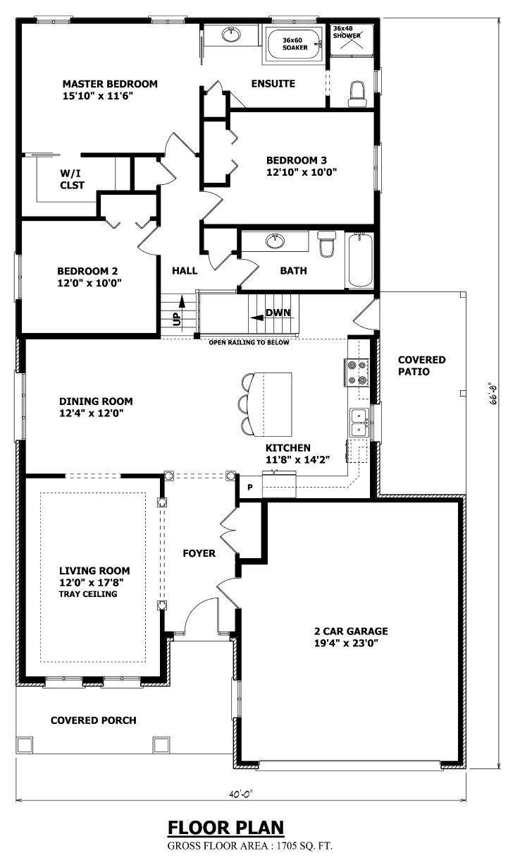 Split Level Floor Plans 4 Bedroom House Detached Garage In 2020 Split Level Floor Plans Garage House Plans Split Level House Plans