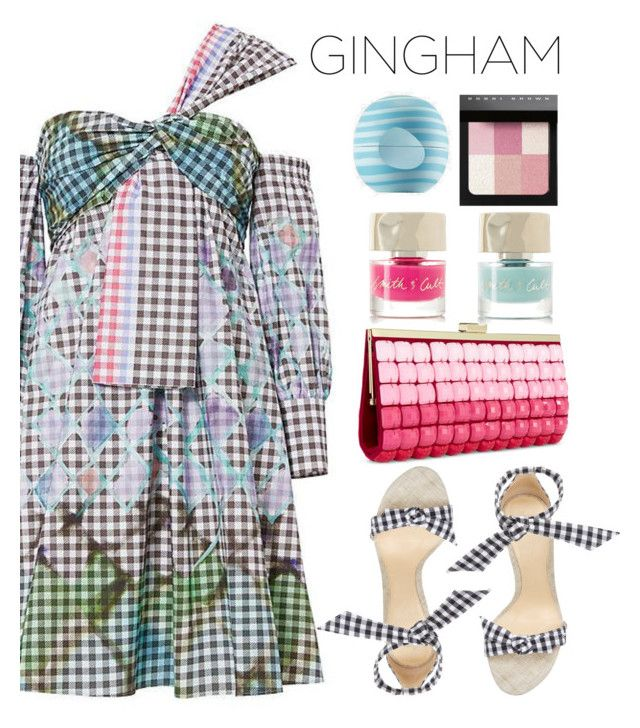"""""""Gingham"""" by misshonee ❤ liked on Polyvore featuring Alexandre Birman, Peter Pilotto, INC International Concepts, Bobbi Brown Cosmetics, Smith & Cult and Eos"""