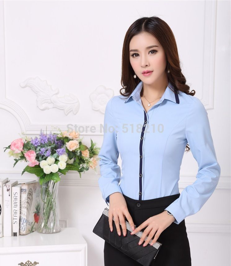Shirt Luxury Quality Blouse Fl Directly From China Tree Suppliers High New 2017 Fall Formal Blouses Women Blue Shirts Long