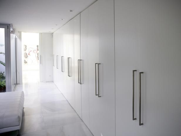 Merveilleux Modern White Simple Contemporary Wardrobe With Long Marble Flooring  Corridor Closet