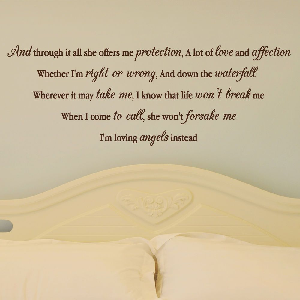 ROBBIE WILLIAMS ANGLES LYRICS, Song, Love, Wall Sticker, Wallart ...