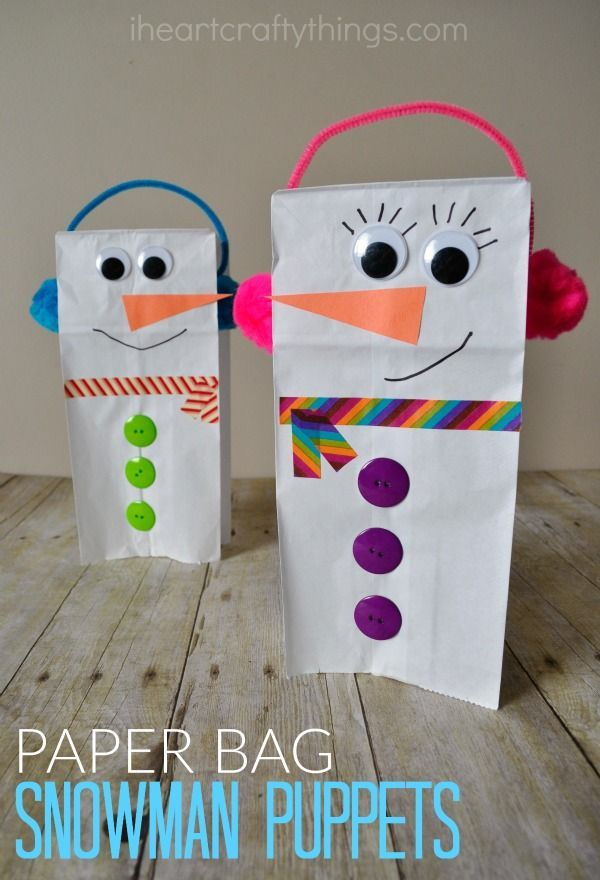 Bag Snowman Puppet I HEART CRAFTY THINGS: Paper Bag Snowman Puppet for Kids to Make this WinterI HEART CRAFTY THINGS: Paper Bag Snowman Puppet for Kids to Make this Winter