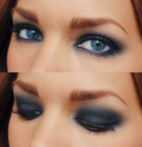 Smokey-look for beautiful, rare blue eyes | Beauty/makeup ...