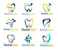 Design Teeth Logo Element Stock Vector Illustration Of Round