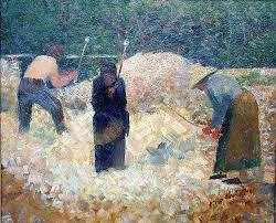 Georges Seurat painting of Rock Breakers Le Raincy