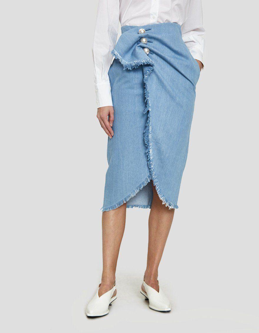 8d79e8d2bd KIMHĒKIM   Distressed Jean Venus Skirt in 2019
