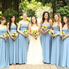 Sunflower colored bridesmaid dresses