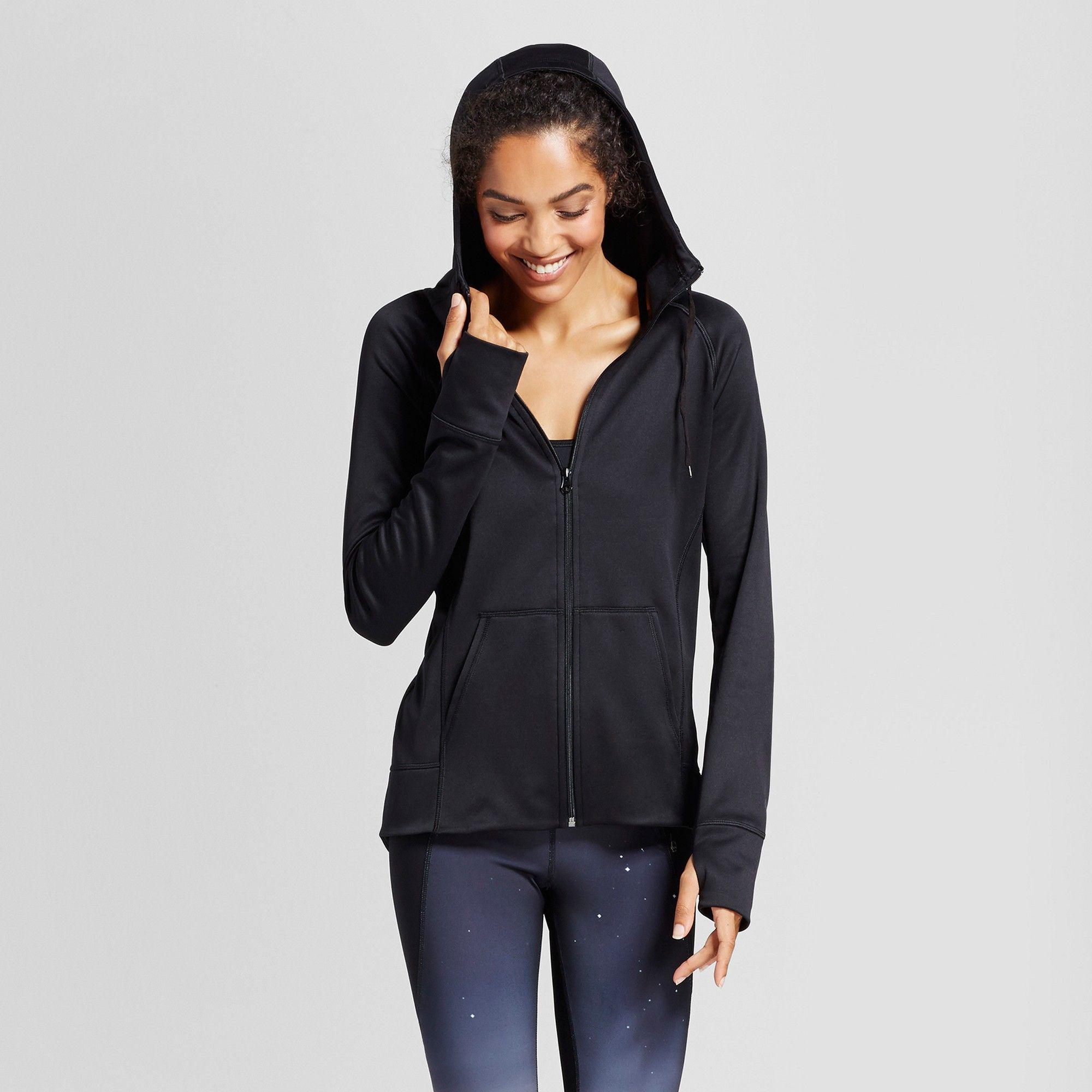 Women's Tech Fleece Full Zip Hoodie C9 Champion Black