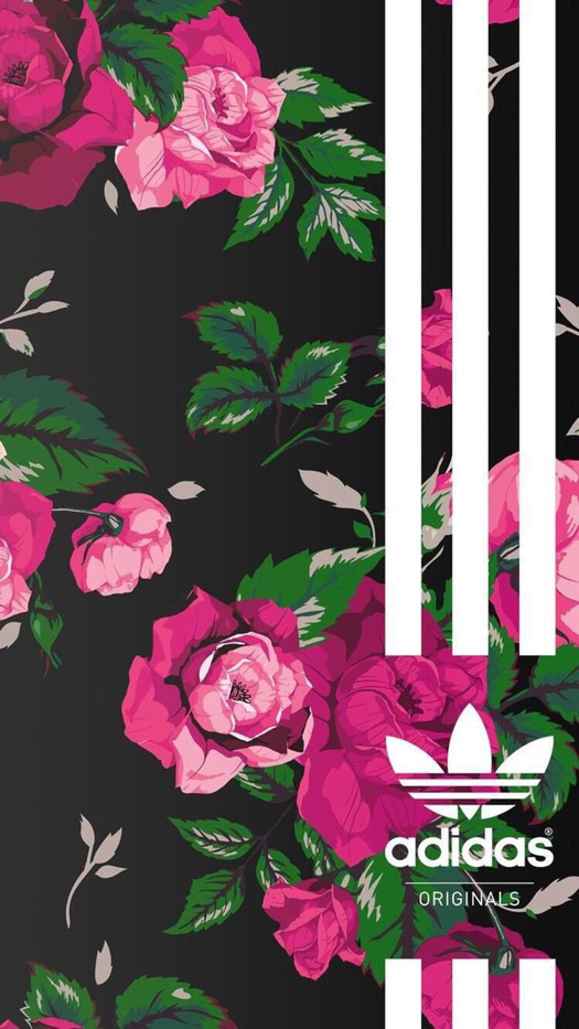 new style 39ac1 9cbbe Floral Adidas Iphone Wallpaper Iphone And Android Wallpapers