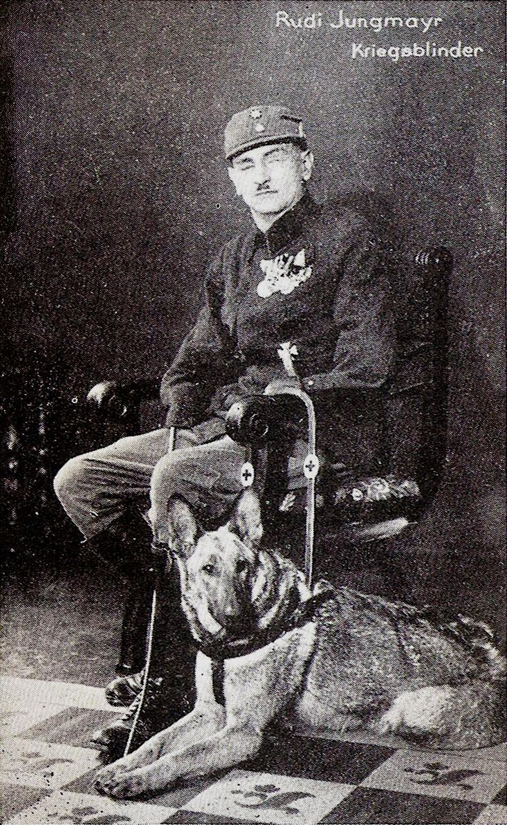 Rudi Jungmayr Sightless And Armless Hero Of Wwi With One Of The