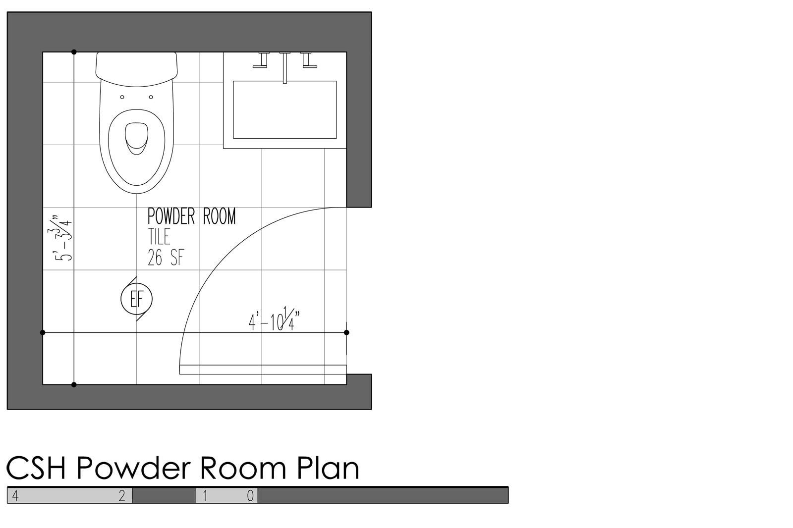 Delightful Minimum Bathroom Dimensions 5 Small Powder Room
