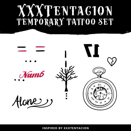 Xxxtentacion Face Tatts