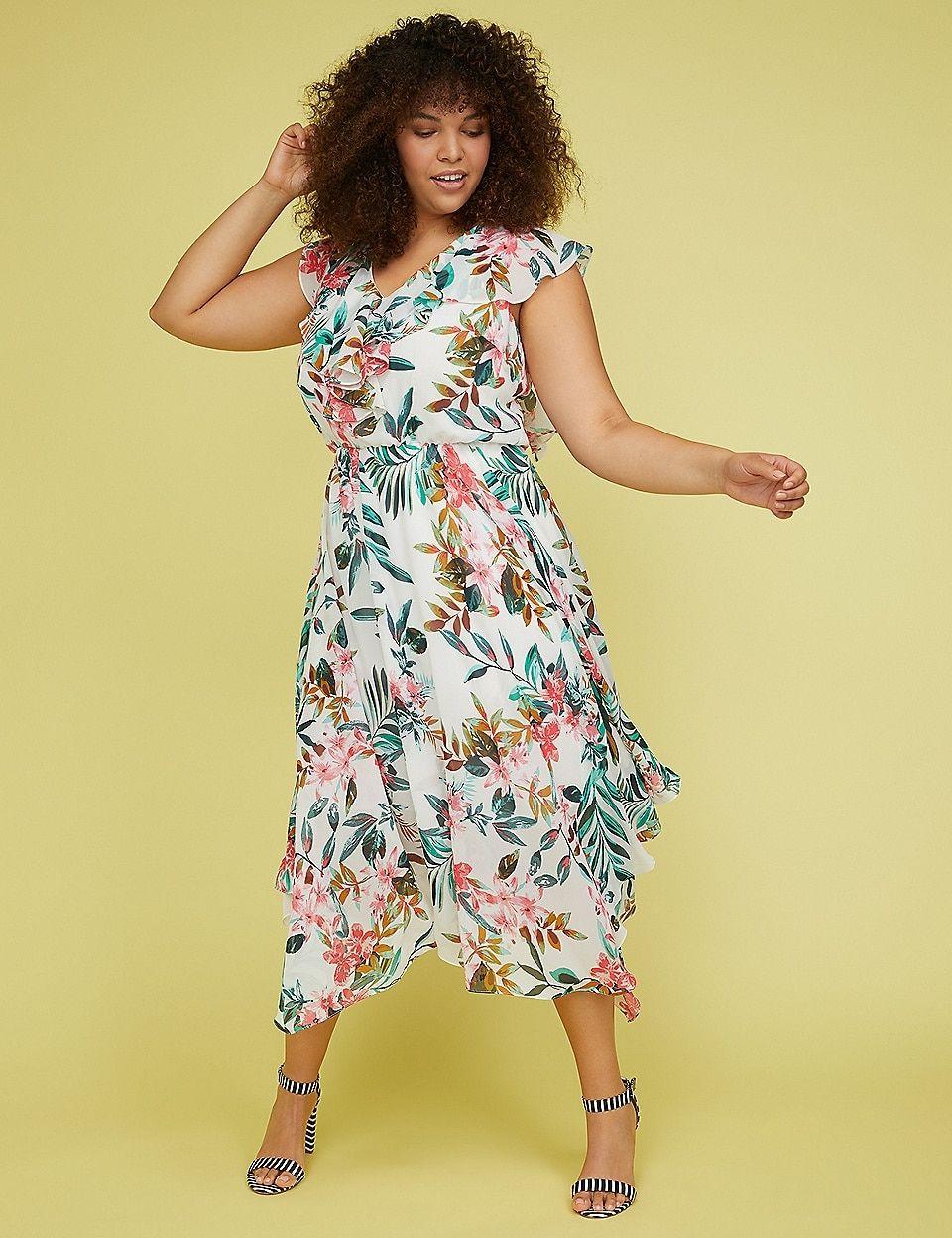 255eff16dd1 Floral Ruffle-Sleeve Woven Maxi Dress