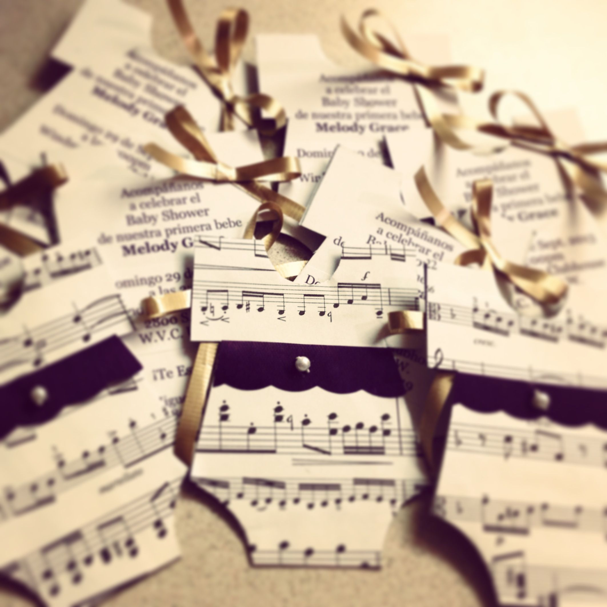 Gmail theme music - Music Sheet Invitations I Made These For My Baby Shower I M Naming My Daughter Melody And My Baby Shower Theme Is Musical I Totally Enjoyed Making My