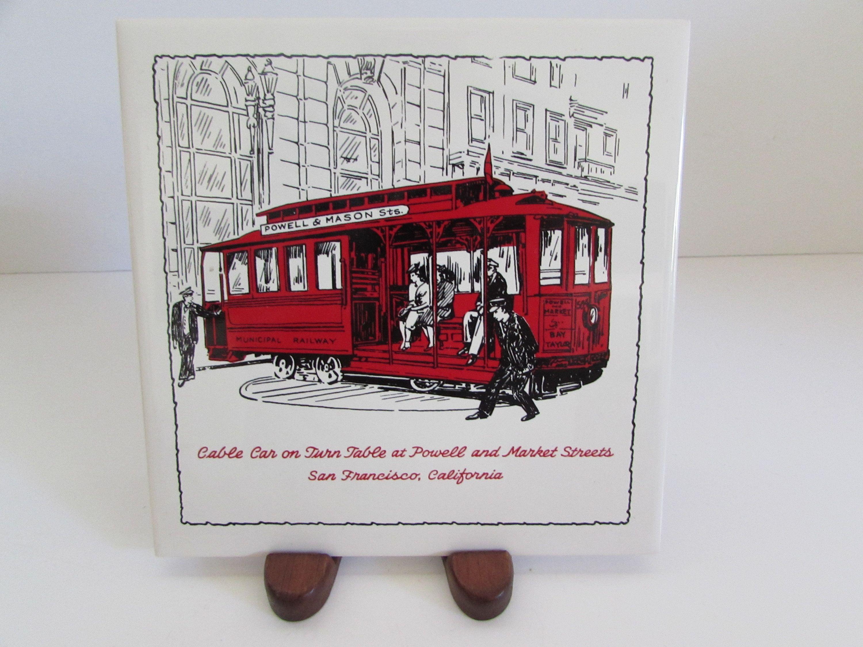 San Francisco Tile/Trivet, San Francisco Trivet, Trivets, Vintage ...