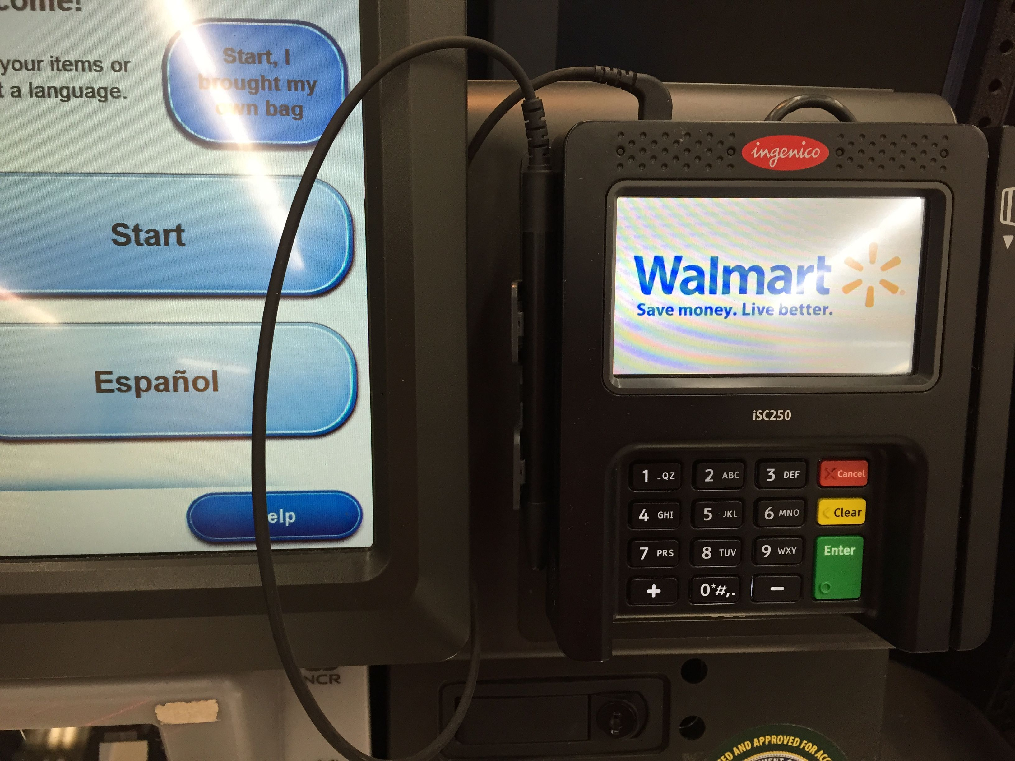 Spotted!! #Ingenico Group's iSC Touch 250 at Walmart in