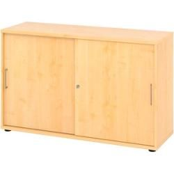 Photo of Hammerbacher Mirakel sliding door cabinet maple / maple 1 shelf Hammerbacher