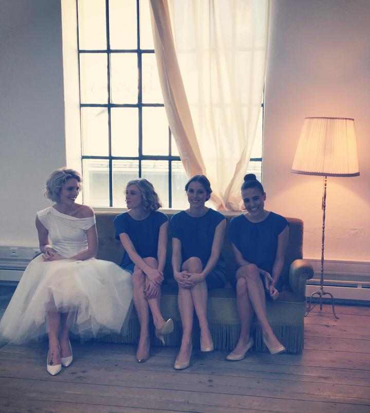 Making of blossomday-dresses.com styled shooting of all gorgeous bridesmaids-dresses; bridesmaids-dresses ocean blue, Brautjungfernkleider Ozeanblau