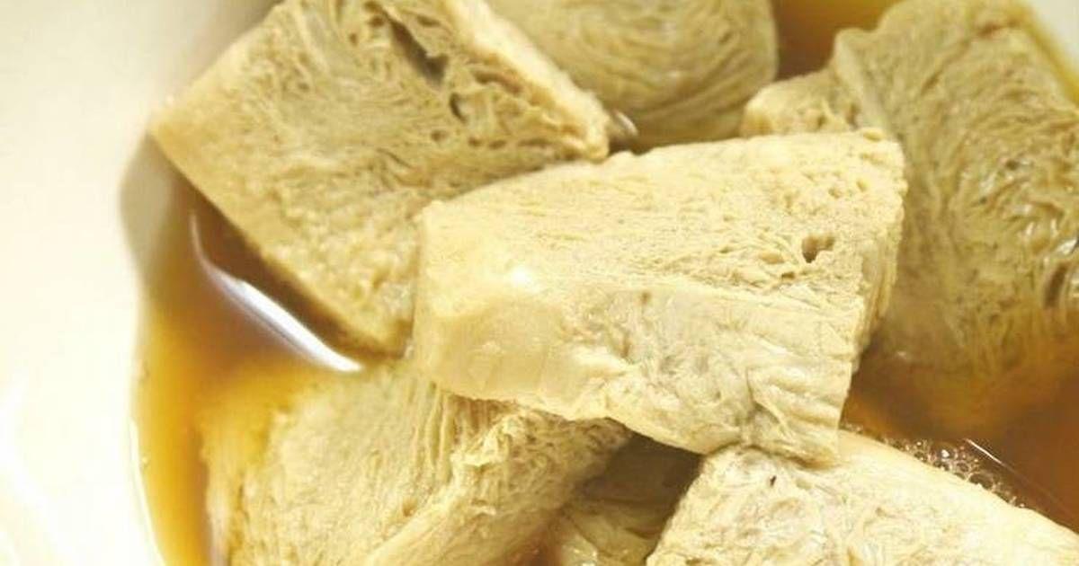 Yuba Style Simmer With Frozen Firm Tofu Recipe By Cookpad Japan Recipe Recipes Firm Tofu Recipes Tofu
