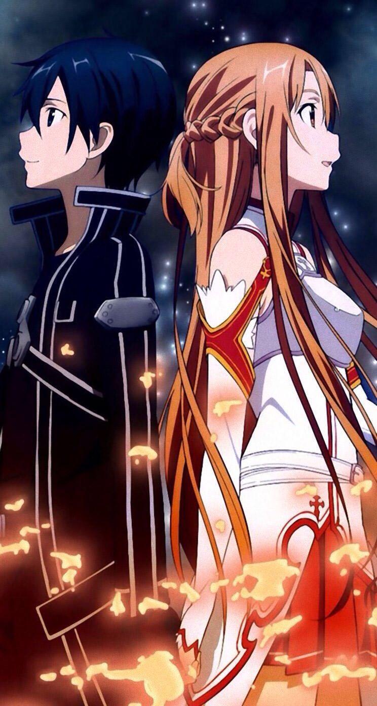 Kirito and Asuna Sword art online asuna, Arte de espada